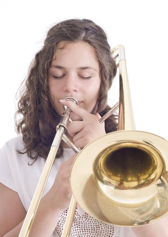 teenage girl trombone