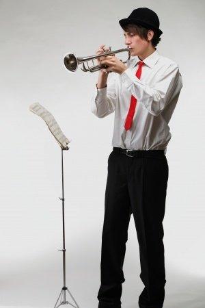 teenage boy trumpet