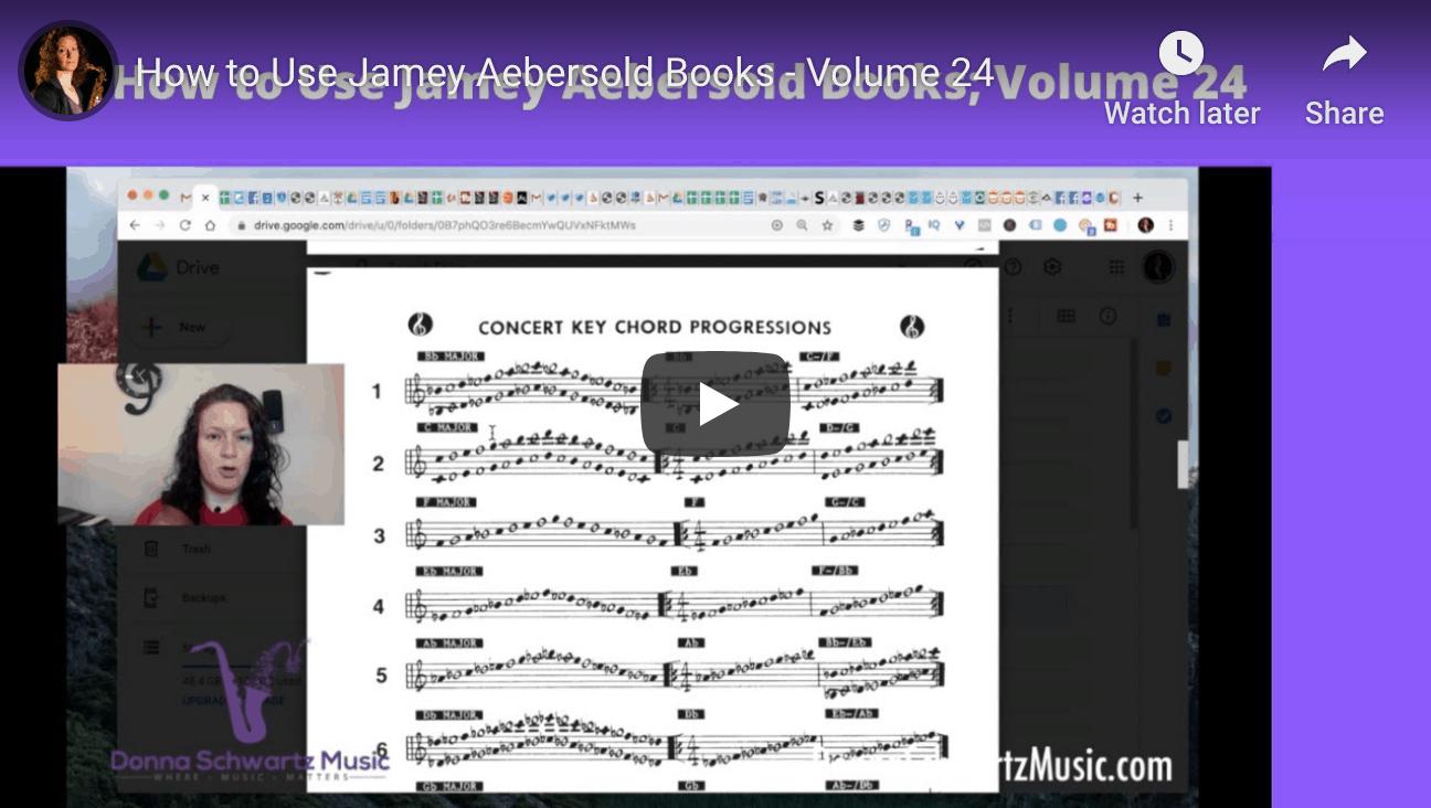Jamey Aebersold Volume 24; How to improvise